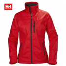 HH WOMEN CREW JACKET ALERT RED