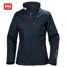 HH WOMEN CREW MIDLAYER JACKET NAVY