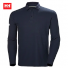 HH CREWLINE LONG POLO NAVY