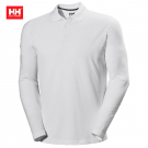 HH CREWLINE LONG POLO WHITE